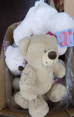 Box of new teddy's