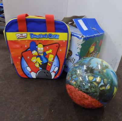 Viz A bowling ball, undrilled and bag