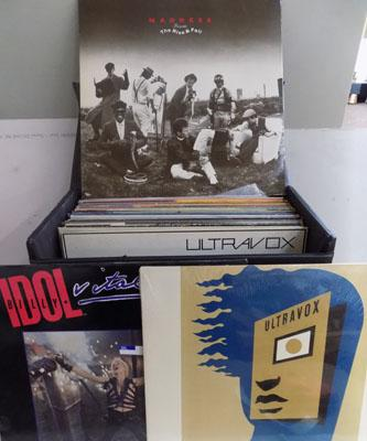 Box of Records incl. Ultra Vox, Billy Idol, Madness