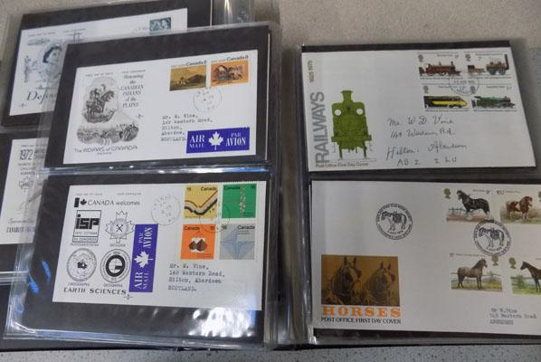 Album of typed illustrated first day covers