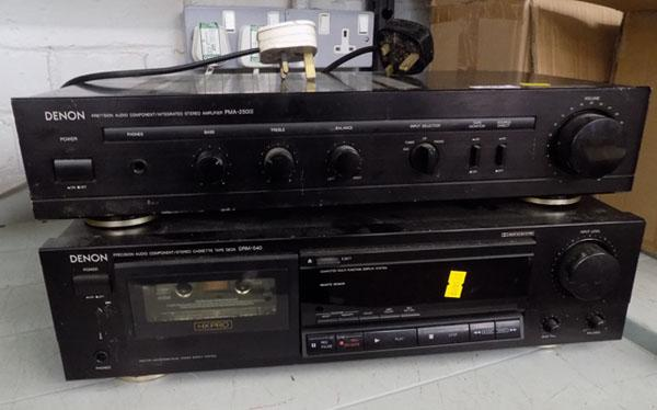 Denon stereo amp and stereo cassette deck