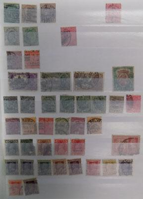 Very well filled stock book of Commonwealth stamps