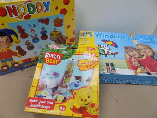 New Noddy plaster and paint set and Rupert Bear create and learn