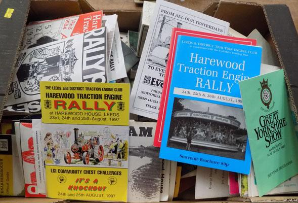 Box of Traction Engine programmes & other booklets