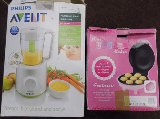Phillips Avent and mini cupcake maker