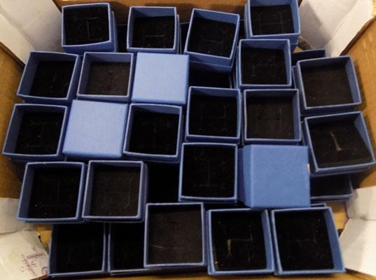 Approx. 50 jewellery ring boxes