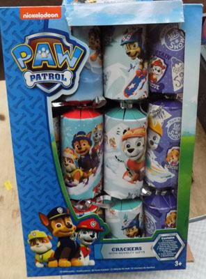 4 x Boxes of Paw Patrol crackers