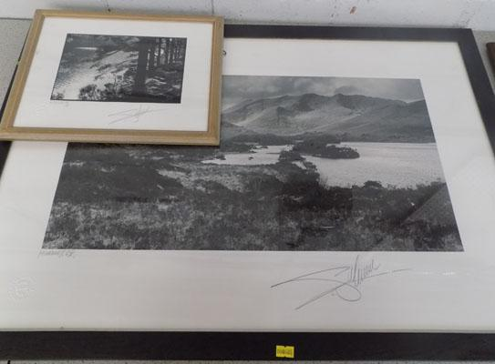 2 Black and White Prints signed Giles Norman