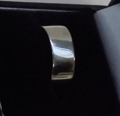 925 silver wide band, ring-size approx. T