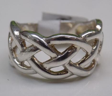 925 Silver patterned band ring
