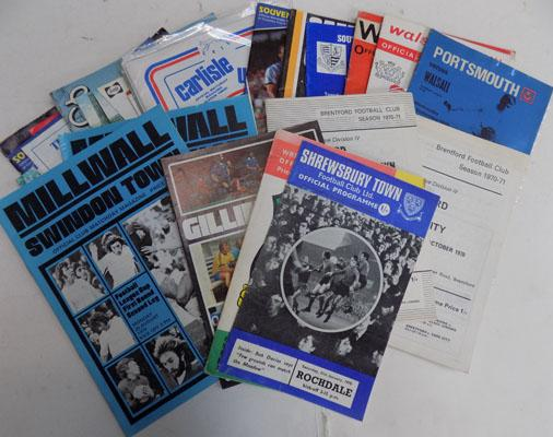 Selection of vintage football programmes