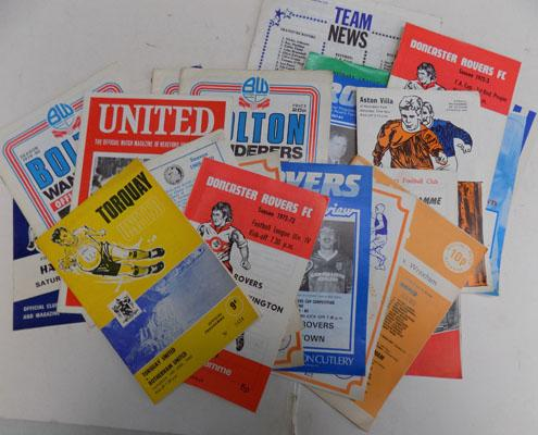 Selection of football programmes