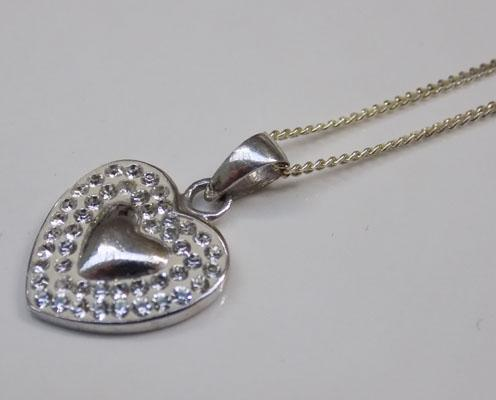 Sterling 925 silver heart necklace