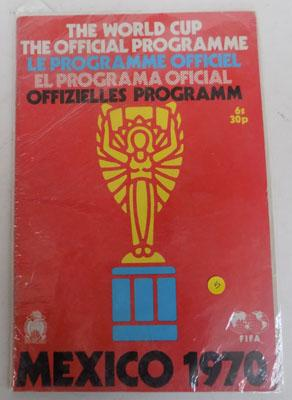 1970 World Cup programme