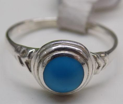925 Silver blue stone ring