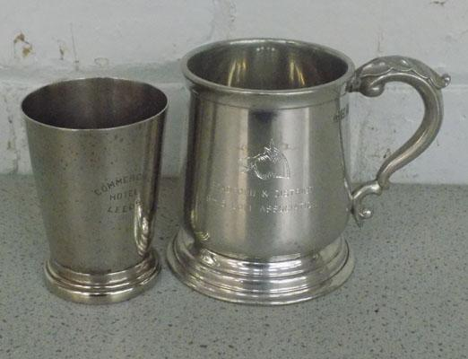 1/2 pint measure commercial hotel Leeds and Pewter Bradford and district golf