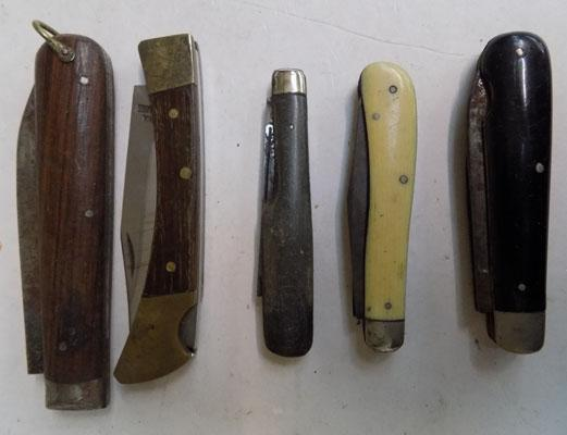 5 vintage pen knives-quality makers