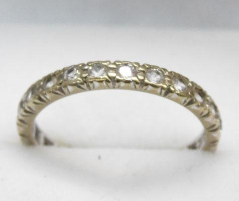 9ct Gold full eternity ring size Q