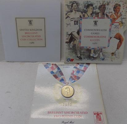 1986 Commonwealth games £2 coin bUNC