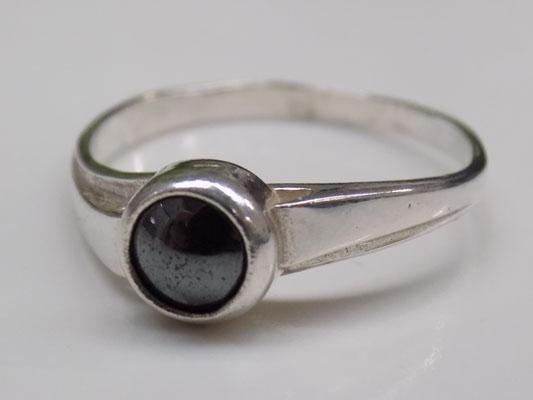 925 Silver ring-Black Stone