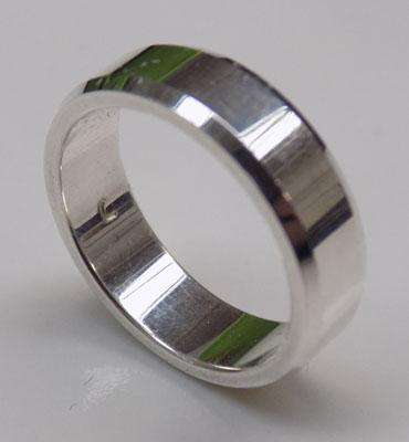 925 Silver ring-wide band