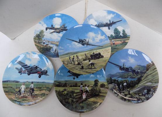 Selection of WWII plane plates with certificates