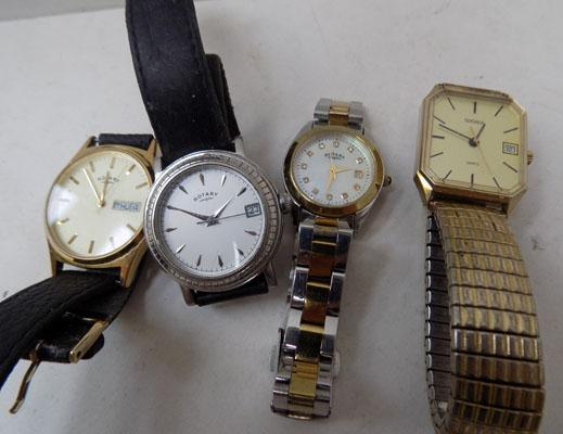 Selection of watches, incl. Rotary & Sekonda