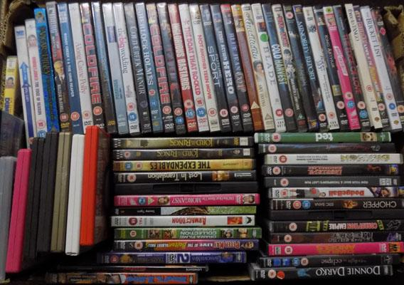 Large box of DVDs - over 50