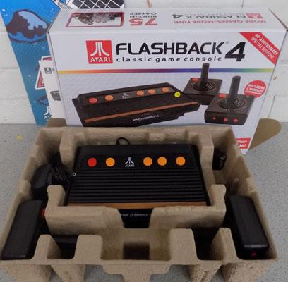 Atari flashback 4-75 built in games-never used