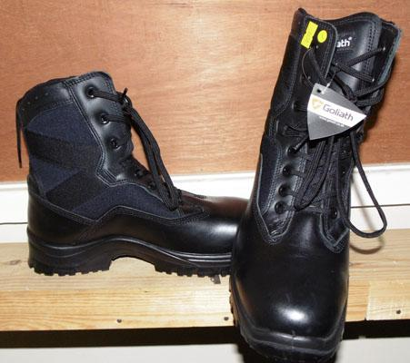 Pair of Army Goliath boots, new, size 8, steel toe capped