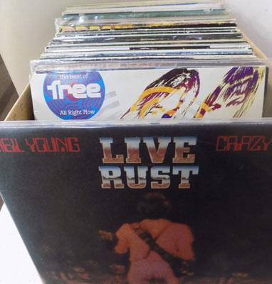 Box of LPs - Rock, Neil Young, The Who etc...