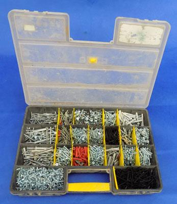 Box of screws - different sizes