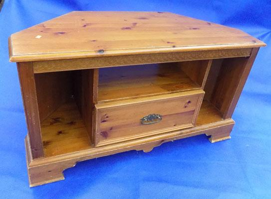 Pine TV entertainment stand