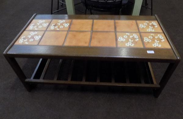 Tiled topped coffee table