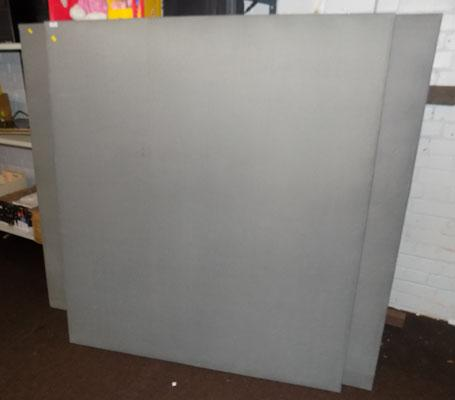 "2x wall boards 63""x63"" approx. and 1x wall board 55""x63"" approx."