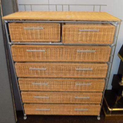 Set of 2 on 5 wicker drawers