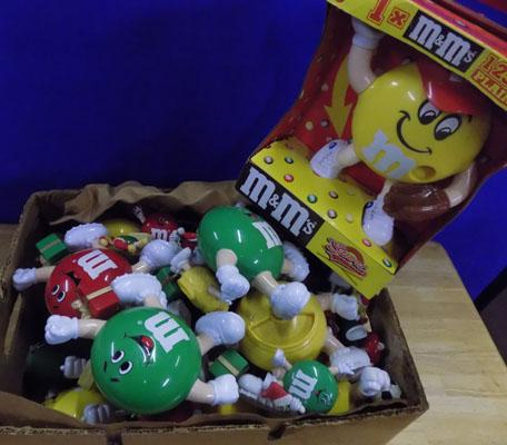 Large box of M & M toys