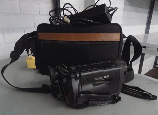 Canon camcorder & accessories in case