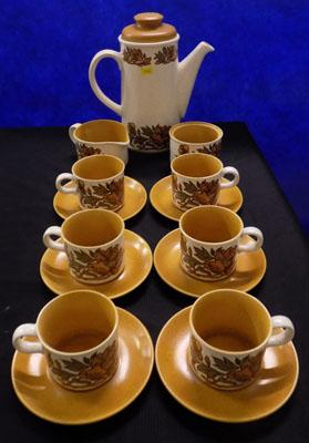Royal Worcester Palissy coffee set