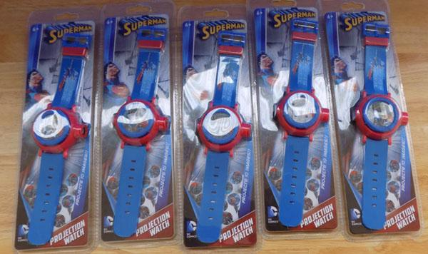 5 Superman projector watches