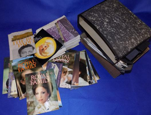 Large box of Lady Diana memorabilia plus other Royal papers