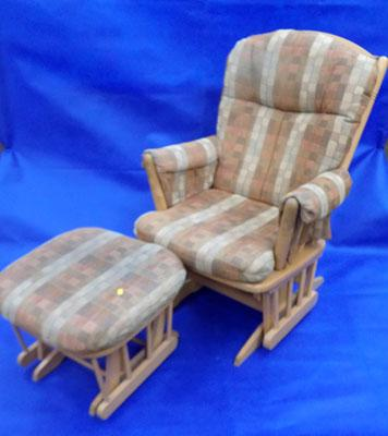 Dutailier rocking chair and stool