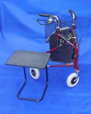 Disability walker and bed table
