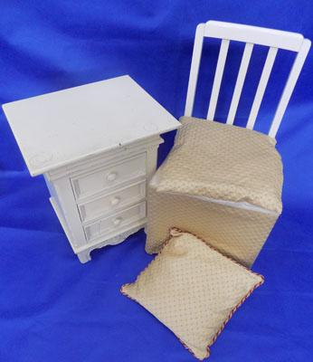 Dressing chair and bedside cabinet
