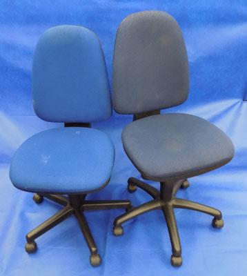 Two office desk chairs