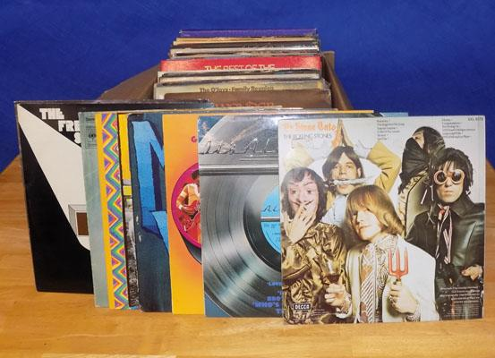 Large collection of LPs, incl. Rolling Stones