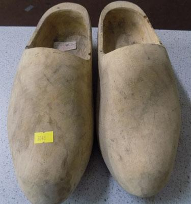 Pair of wooden clogs