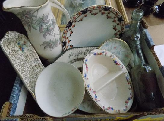 Large mixed box of pottery, incl. Meakin