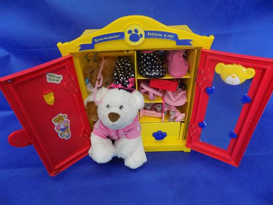 Build a bear sets incl. bear and clothes (yellow)