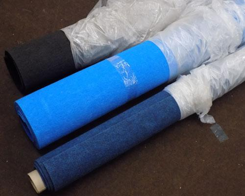 3 new rolls of carpet - no sizes